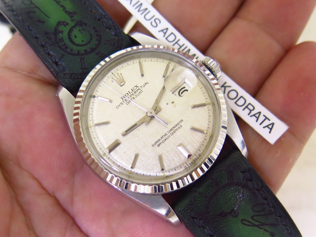 ROLEX OYSTER PERPETUAL DATE JUST WHITE LINEN TEXTURE DIAL - ROLEX 1601
