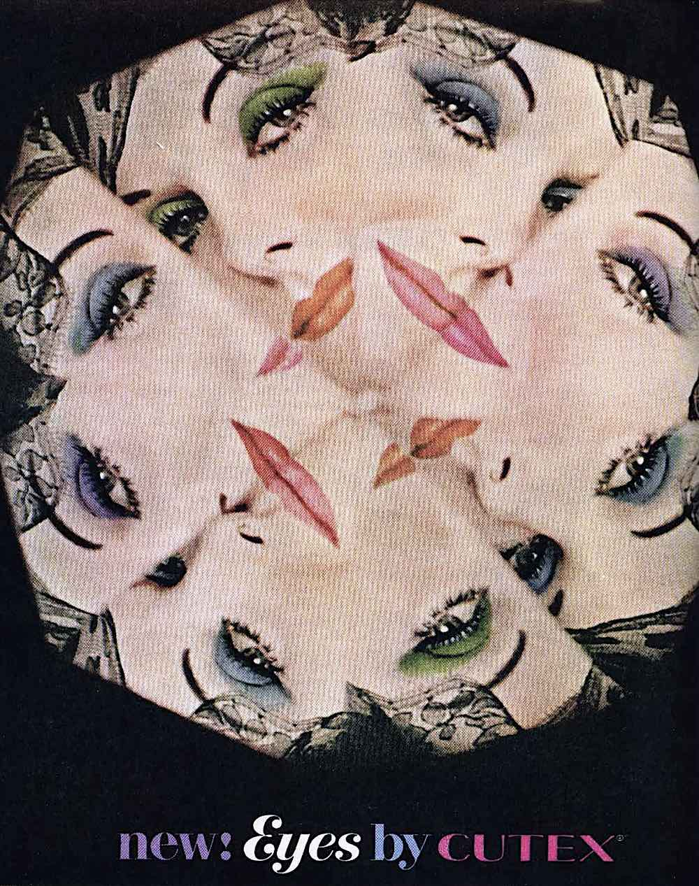 an Oleg Cassini 1962 ad design for Cutex, kaleidoscope