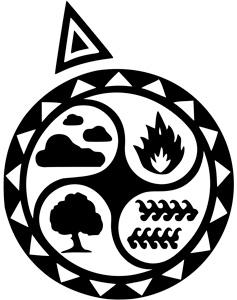 Imagen de los cuatro elementos Aire, Fuego, Tierra y Agua