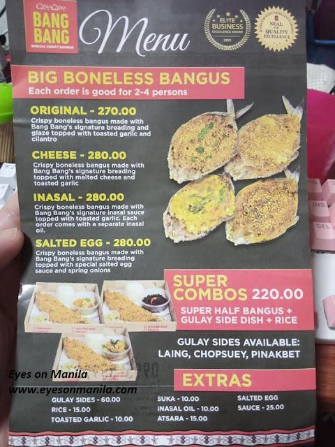 Bang Bang Bangus Flavors