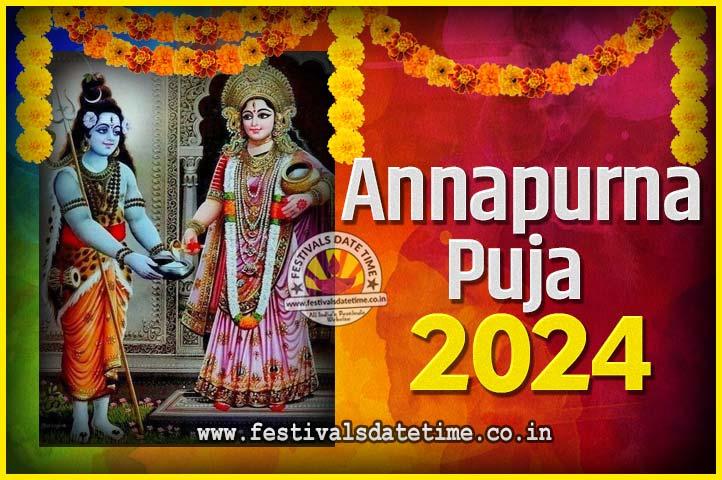2024 Annapurna Puja Date and Time - 2024 अन्नपूर्णा पूजा तारीख और समय - 2024 অন্নপূর্ণা পূজা তারিখ ও সময়