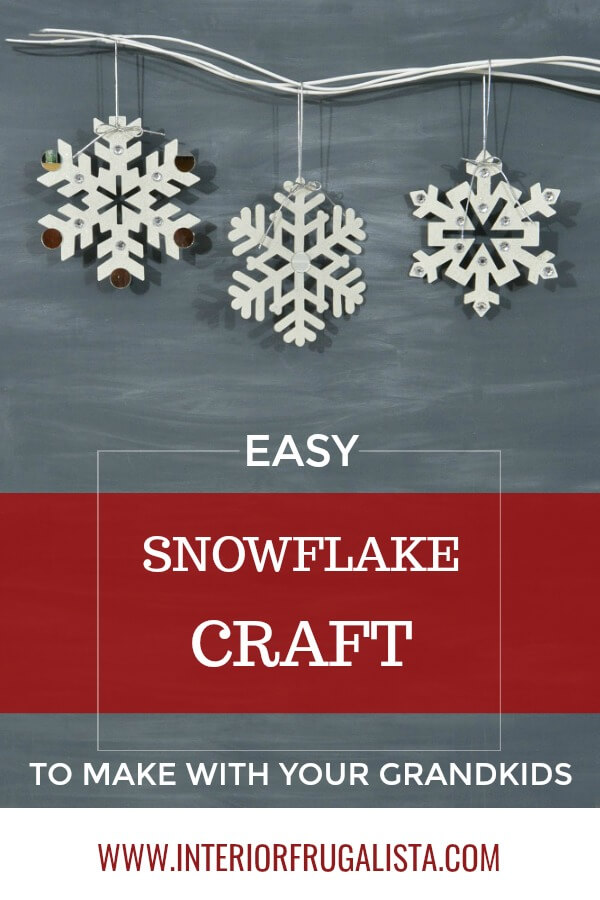 Large Snowflake Craft For Kids