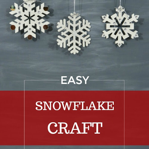 Easy Snowflake Craft To Make With Grandkids