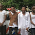 Police parade four criminals who specialize in placing order for expensive phones online