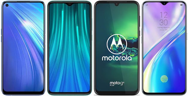 Realme 6 vs Xiaomi Redmi Note 8 Pro vs Motorola Moto G8 Plus vs Realme XT