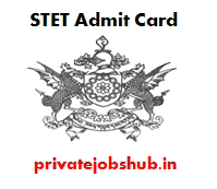 STET Admit Card