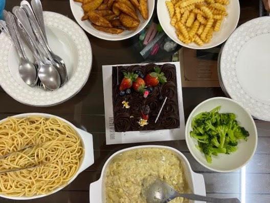 masakan western, menu spaghetti, masakan mudah disediakan, sambutan majlis ringkas