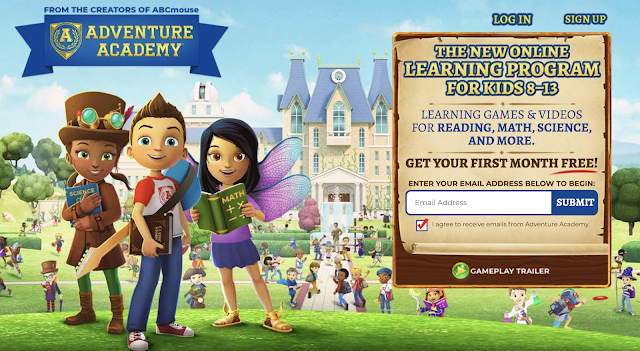 Adventure Academy online learning