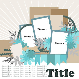 Free Layered Scrap Template - Multiple Photo #2