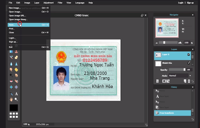 [TUT] FAKE CMND Bằng photoshop online