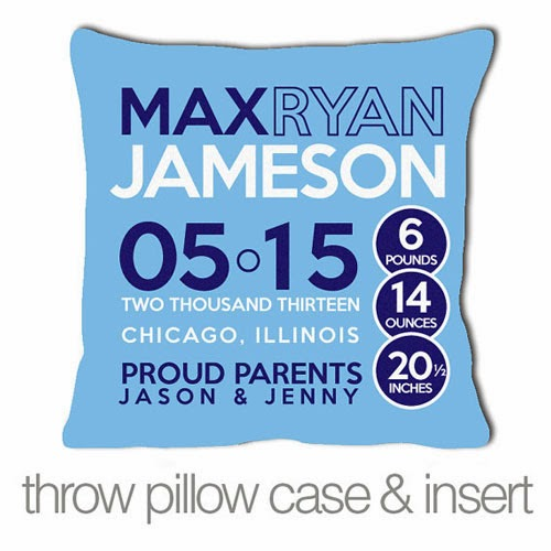 New Baby Gift - Cool throw pillow