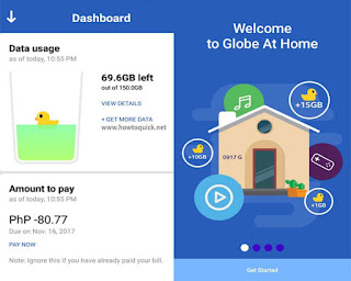 Globe at Home data usage