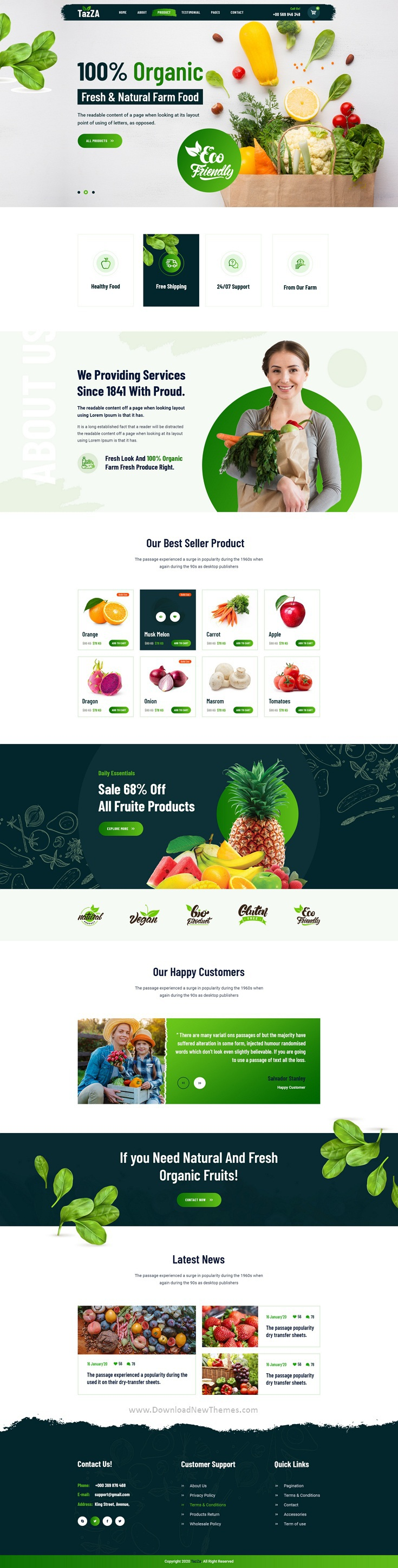 Organic Food Figma Template