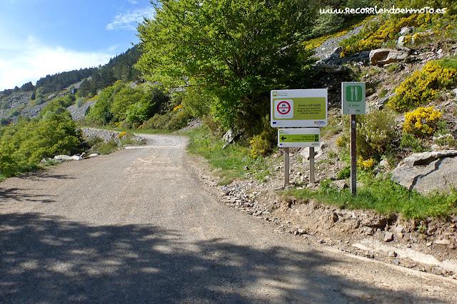 Fin camino público Santuario Moncayo