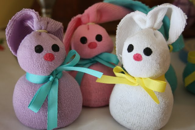 Hotcakes Easter Crafting Sock Bunnies