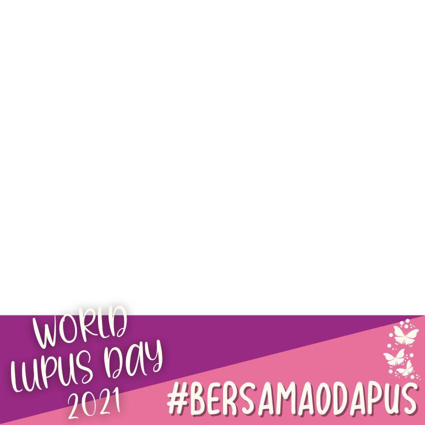 Desain Bingkai Twibbon World Lupus Day 2021