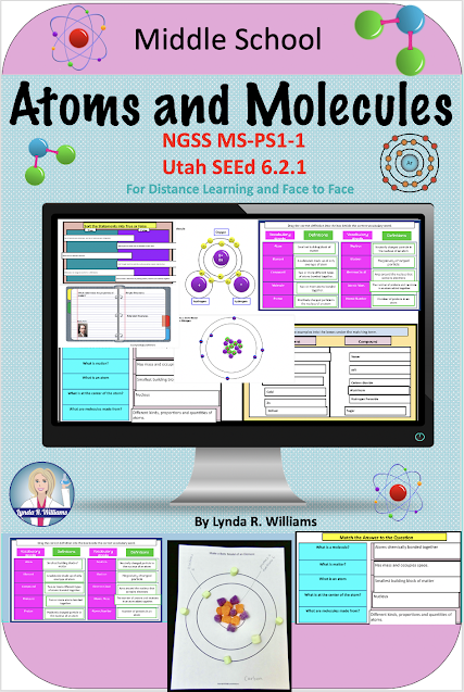 Complete Unit for Online Learning Middle School Science molecules