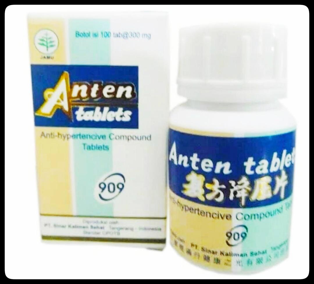 Jual obat tekanan darah tinggi (hipertensi) anten tablets ancom herbal cina di surabaya