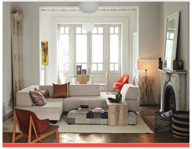 Mix de estilos en tres salones ministry of deco for Muebles de escayola para el salon