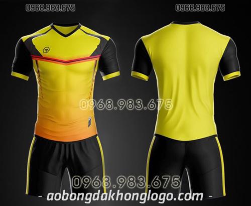 Áo bóng đá ko logo TA Ste màu vàng