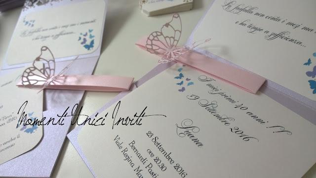 l1 Tantissime farfalle per i coordinati di LuanaCard Compleanno Colore Lilla Colore Rosa Colore Rosa Cipria Segnaposto Segnatavolo Tema Farfalle