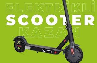 Elektrikli Scooter Çekilişi