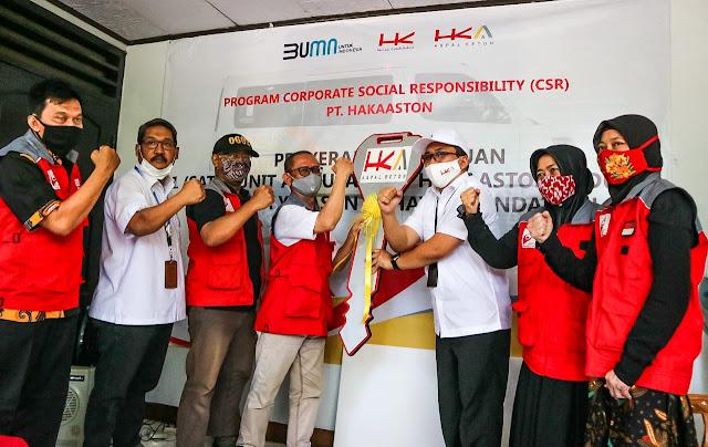 Hutama Karya Salurkan CSR Berupa Ambulance ke Cahaya Foundation
