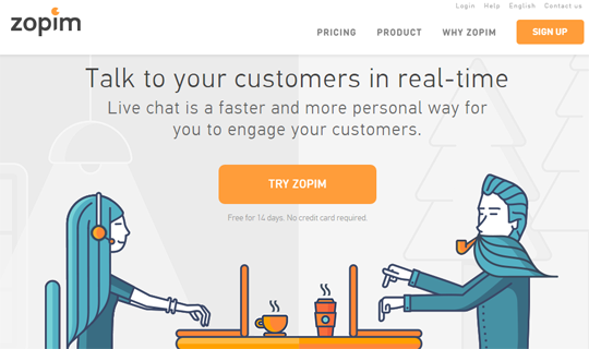 zopim live chat widget
