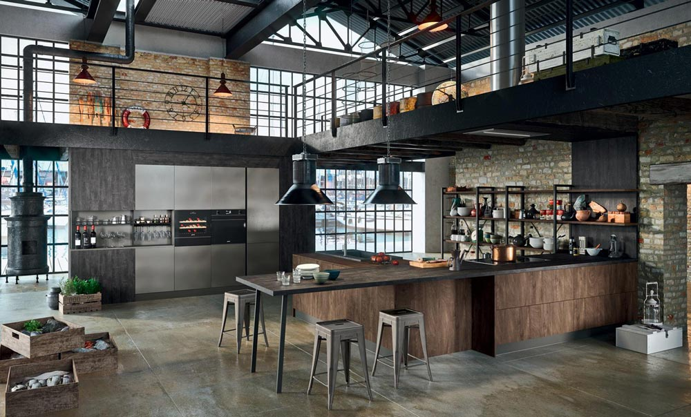Cucina in stile industriale vintage libertà espressiva e mix di