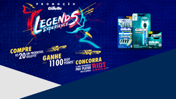 promoção gillette league of legends riot points