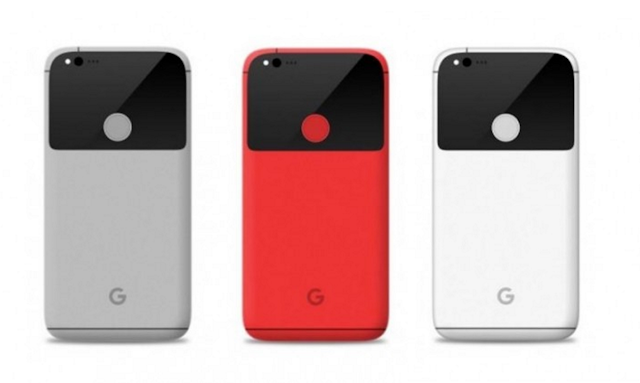 HTC 幫 Google 代工的 Pixel 可能外型,圖片來源:擷取自 Gsmarena 網站