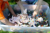 foam soap sensory play