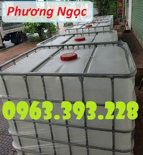 Bồn nhựa 1 khối, tank đựng hóa chất, tank nhựa IBC 1000 Lít, thùng nhựa vuông có 0662eb4110c2f79caed3%2B%25281%2529