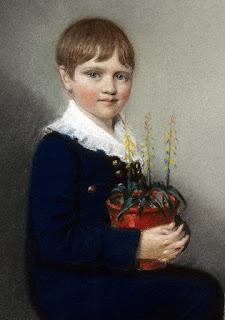 The seven-year-old Charles Darwin in 1816.