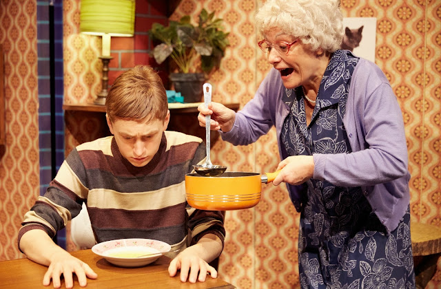 Granny and Ben with Cabbage Soup