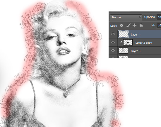 scribble art, tutorial photoshop, efek photoshop