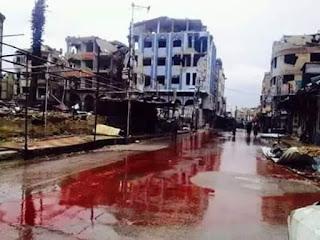 Innalilahi Serangan Brutal yang bertubi tubi dari Pemerintah Syiah di Suriah Membuat Allepo Banjir Darah - Naon Wae News