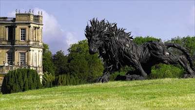 Image result for Lion 2 by Ji Yong-Ho in the gardens of Chatsworth House