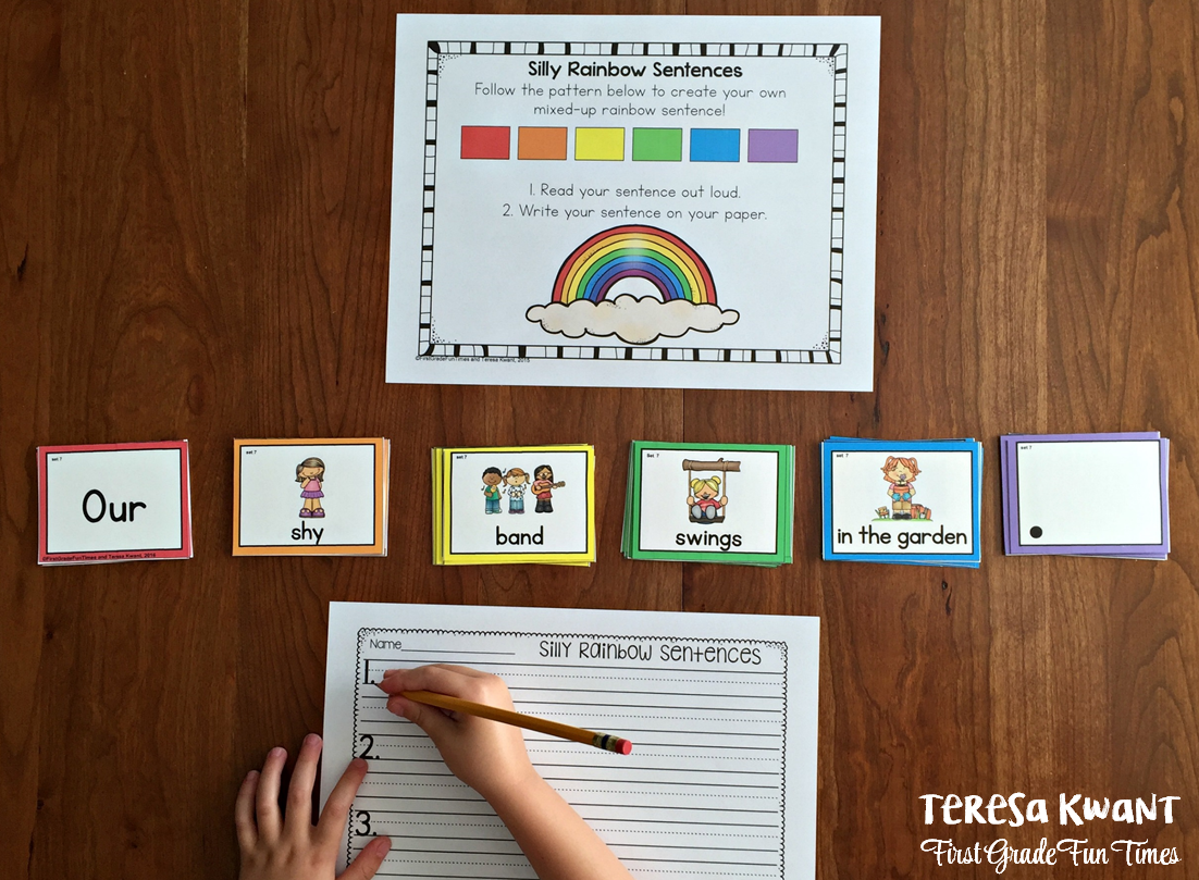 Silly Rainbow Sentences Teresa Kwant