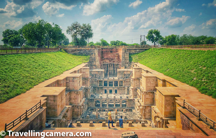 Rani Ki Vav in Patan town of Gujrat is very special stepwell in this part of the state. It's a 7 storey stepwell with multiple layers. Visitors are not allowed to go beyond a point but one can see whole vav from the top. There is a pathway created around the vav and one can see each level of the stepwell from the top. Words and photographs can't do justice to grandness of this place.     After spending approximately 30 mins around Rani ni Vav in Patan, it was time to check out some of the other recommended places in Patan - Sahastralinga Tank, which is very close to Rani ki Vav, Patan Patola Heritage which is another close-by place. We attempted to visit these places and here is our golden advice to skip all these places unless you have extra time and still want to check out some of these places. Otherwise Rani Ki Vav is the place to explore in Patan and rest can be skipped.     It was also our time to have lunch but we had to go back to the highway to find a decent place to have lunch. There is nothing around Rani ki Vav or Modhera temple for having full meal. Finding a good place for lunch was a little struggle and that's when we realised that we should have kept some stuff to eat.