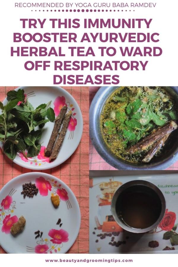 Kadha herbal tea to boost immunity and fight respiratory diseases