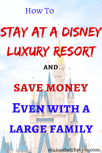 how to stay at a luxury disney resort for less pinnable image
