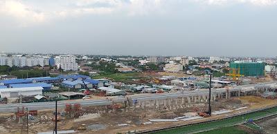 Sicht von der Dachterrasse Hotel Maple