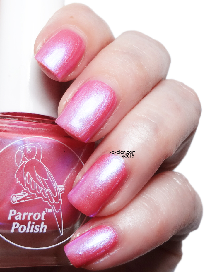 xoxoJen's swatch of Parrot Polish OMGMETATAS