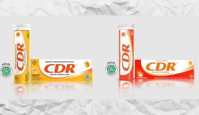 Suplemen Vitamin CDR Rasa Jeruk dan Fruit Punch