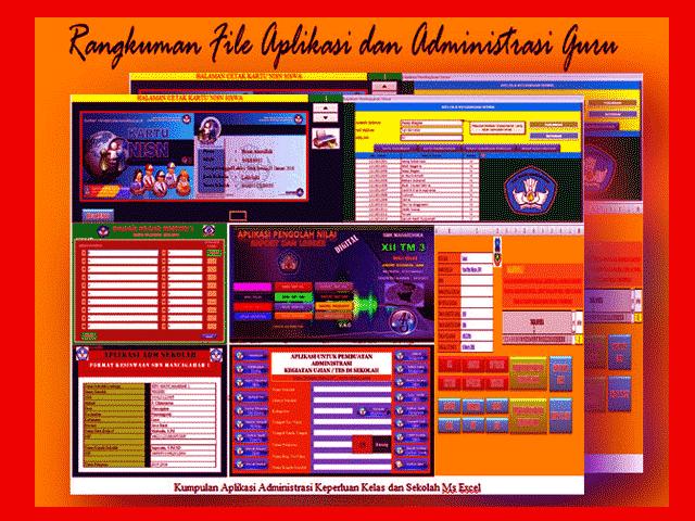 Download Kumpulan File Aplikasi Administrasi Guru Lengkap Jenjang SD,SMP,SMA