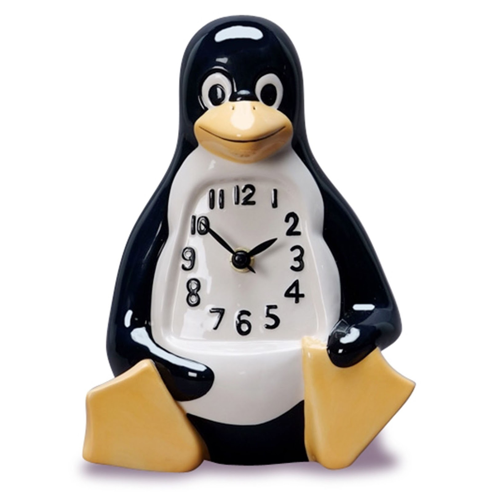 Tux the Penguin clock