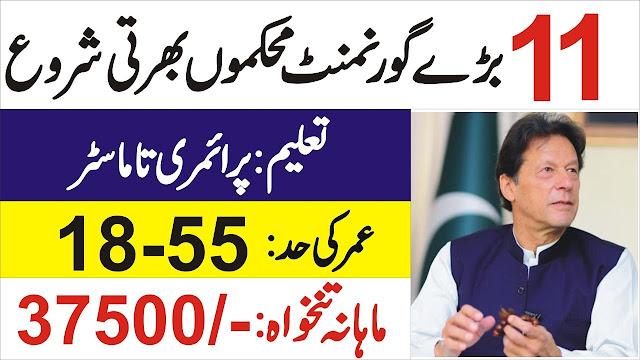 11 Department Pak Govt Jobs 2021 || New Govt Jobs 2021|| Today Latest Job || Pakistan Govt Jobs 2021