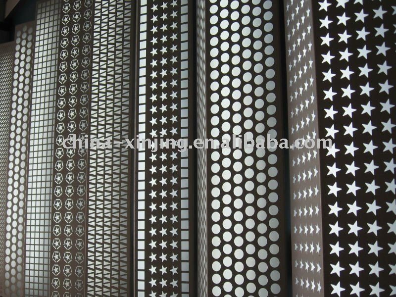 Perforated metal sheets for decoration