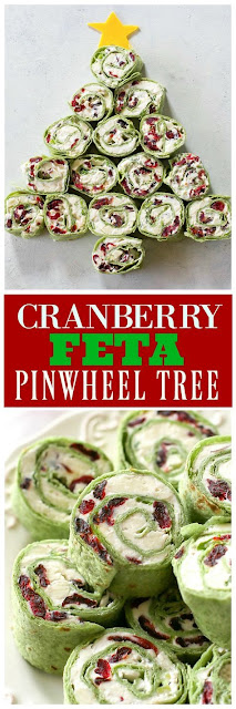 Cranberry and Feta Pinwheels - The Perfect Christmas Appetizer